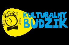 Logo z dzwoniącym budzikiem i napisem Kulturalny Budzik
